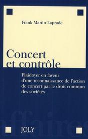 Concert et contrôle ; plaidoyer en faveur d'une reconnaissance de l'action de concert par le droit commun des sociétés - Intérieur - Format classique