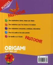 Origami pour faire joli - 4ème de couverture - Format classique