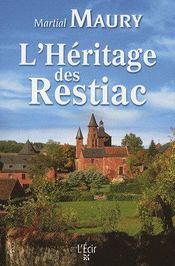 L'héritage des Restiac - Couverture - Format classique