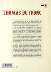 Thomas Dutronc - 4ème de couverture - Format classique
