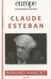 Claude Esteban ; Bernard Manciet - Couverture - Format classique