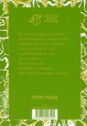 La soupe aux amandes - 4ème de couverture - Format classique