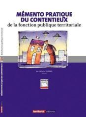 Mémento pratique du contentieux de la fonction publique territoriale - Couverture - Format classique