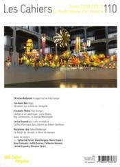 Cahiers Du Musee National D'Art Moderne N.110 - 4ème de couverture - Format classique