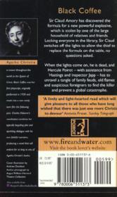 Black Coffee - 4ème de couverture - Format classique