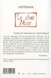Le Chat Murr - 4ème de couverture - Format classique