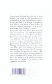 Bleu Note - 4ème de couverture - Format classique