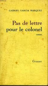 Pas De Lettres Pour Le Colonel - Couverture - Format classique