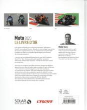 Le livre d'or de la moto (édition 2020) - 4ème de couverture - Format classique