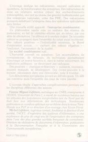 Societe Combinatoire Reseaux Et Pouvoirs ... - 4ème de couverture - Format classique