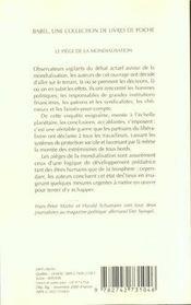 Le Piege De La Mondialisation Babel 453 - 4ème de couverture - Format classique