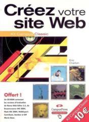 Creer votre site web kit campus classic - Couverture - Format classique