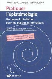 Pratiquer L'Epistemologie - Intérieur - Format classique