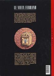 Le vieux ferrand t.1 ; le dernier fils - 4ème de couverture - Format classique