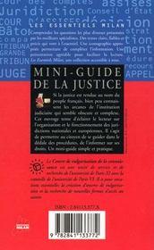 Mini-guide de la justice - 4ème de couverture - Format classique