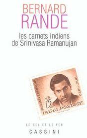 Les carnets indiens de srinivasa ramanujan - Intérieur - Format classique