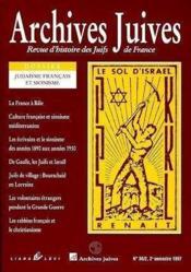 Revue Des Archives Juives N.8 Le Judaisme Francais - Couverture - Format classique