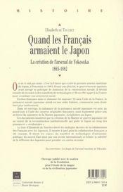 Quand les francais armaient le japon - 4ème de couverture - Format classique