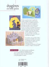Etageres En Bois Peint-Les Bases - 4ème de couverture - Format classique