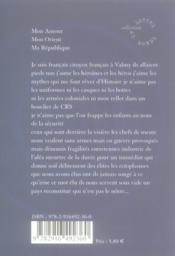 Lettre à la République - 4ème de couverture - Format classique