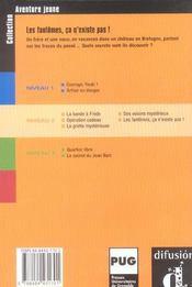 Aventure Jeune-Les Fantomes Ca N'Existe Pas !-Niv.2 - 4ème de couverture - Format classique