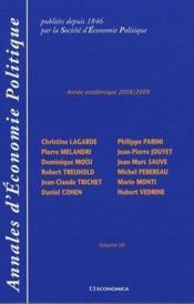 Annales d'économie politique ; volume 56 (2008-2009) - Couverture - Format classique