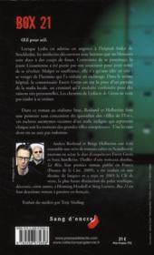 Box 21 - 4ème de couverture - Format classique