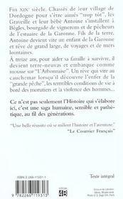 Les Gens De Garonne T.1 ; Les Forcats De La Mer - 4ème de couverture - Format classique