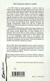 Des Histoires Dures A Avaler - 4ème de couverture - Format classique