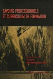 Savoirs professionnels et curriculum de formation - Couverture - Format classique