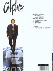 Alpha t.6 ; l'émissaire - 4ème de couverture - Format classique