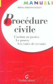 Manuel de procedure civile - Intérieur - Format classique