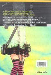 Existence zéro t.2 ; le pouvoir de Framboise - 4ème de couverture - Format classique