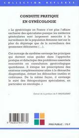 Conduite Pratique En Gynecologie - 4ème de couverture - Format classique