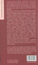 La violence de guerre 1914 1945 - 4ème de couverture - Format classique