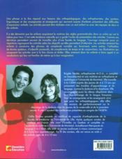 Un phrase à la fois ; activités morphosyntaxiques - 4ème de couverture - Format classique