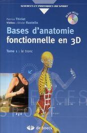 Bases d'anatomie fonctionnelle par la 3D - Couverture - Format classique