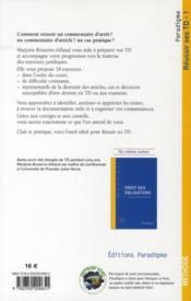 Réussir ses TD t.1 ; droit civil : personnes, incapacités, famille - 4ème de couverture - Format classique