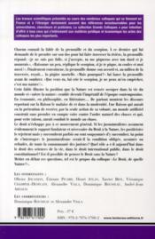 Le droit, de quelle nature ? actes du colloque organisé les 8 et 9 mars 2007, faculté de droit de Montpellier (CERCOP) - 4ème de couverture - Format classique
