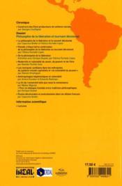 CAHIERS DES AMERIQUES LATINES N.62 ; philosophie de la libération et tournant décolonial - 4ème de couverture - Format classique