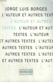 L'auteur et autres textes - Couverture - Format classique