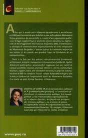 Développement international Desjardins 1970-2010 ; pionnier québécois de la microfinance - 4ème de couverture - Format classique