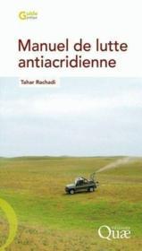 Manuel de lutte antiacridienne - Couverture - Format classique