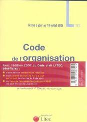 Code civil 2007. à jour au 6 juillet 2006 intégrant la réforme sur les successions et libéralités - 4ème de couverture - Format classique