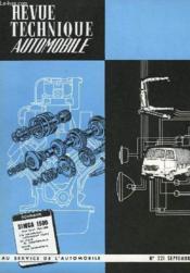 Revue Technique Automobile - N°221 - Couverture - Format classique