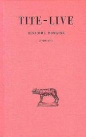 Histoire romaine t.8 ; L8 - Couverture - Format classique