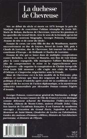 Marie de rohan duchesse de chevreuse - 4ème de couverture - Format classique