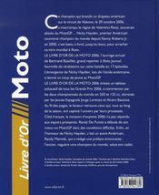 Le Livre D'Or Moto (edition 2006 - 4ème de couverture - Format classique