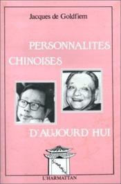 Personnalités chinoises d'aujourd'hui - Couverture - Format classique