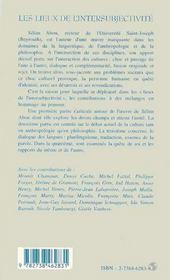 Les Lieux De L'Intersubjectivite ; Hommage A Selim Abou - 4ème de couverture - Format classique